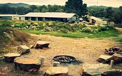 Shearer's quarters and fire pit